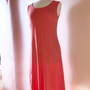 Liz Claiborne NY Coral Sleeveless Maxi Dress M/L
